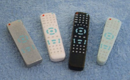 Dolls House Miniature Remote Controls pk4 asst, Living Room - The Dolls House Store