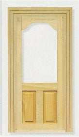 Dolls House Miniature Glass Top Panel Door, Doors and Windows - The Dolls House Store