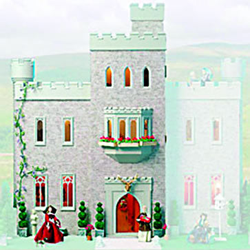 Dolls House Miniature Cumberland Castle Kit, Dolls Houses and Basements - The Dolls House Store