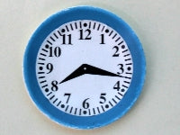 Dolls House Miniature Plate Clock, Clocks - The Dolls House Store