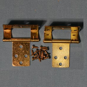 Dolls House Miniature Set Of 2 10mm Cranked Hinges And Screws, DIY - The Dolls House Store
