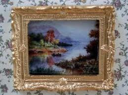 Dolls House Miniature Scottish Loch Picture, Paintings - The Dolls House Store