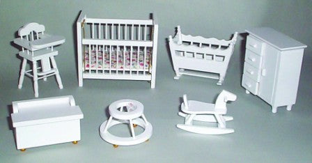 Dolls House Miniature Nursery Set, Furniture Sets - The Dolls House Store