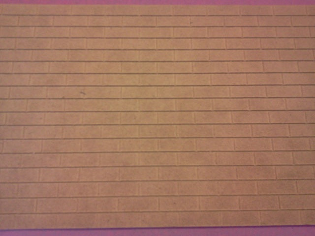 "Dolls House Miniature MDF Brick Sheet 30"" x 6"", DIY - The Dolls House Store"