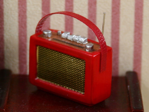 Dolls House Miniature Red Radio, Bedroom - The Dolls House Store