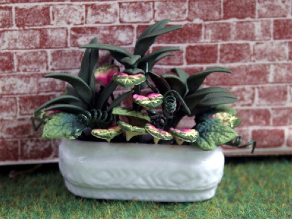 Dolls House Miniature Planted Trough, Garden - The Dolls House Store