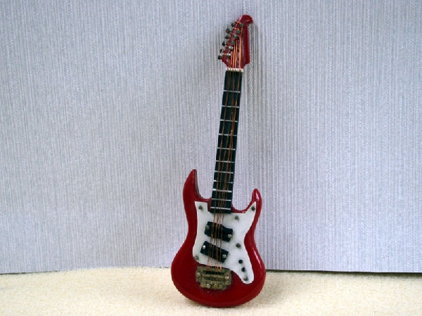 Dolls House Miniature Red Guitar, Music Room - The Dolls House Store