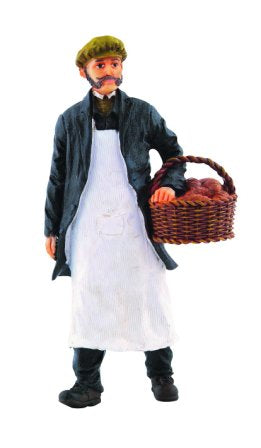 Dolls House Miniature Resin Doll Baker W/Basket, Dolls and Resin Figures - The Dolls House Store