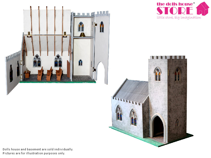 Dolls House Miniature Church, Dolls Houses and Basements - The Dolls House Store