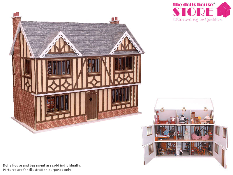 Dolls House Miniature Oak House, Dolls Houses and Basements - The Dolls House Store