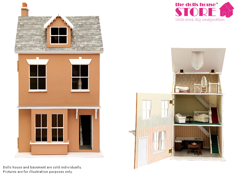 Dolls House Miniature Jubilee Terrace House, Dolls Houses and Basements - The Dolls House Store
