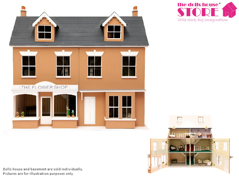 Dolls House Miniature Jubilee Terrace Double, Dolls Houses and Basements - The Dolls House Store