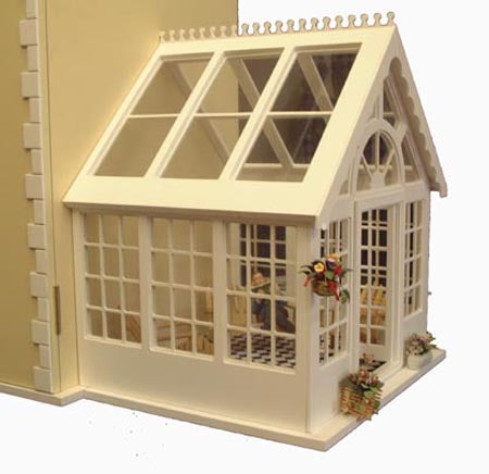 Dolls House Miniature Conservatory, Dolls Houses and Basements - The Dolls House Store