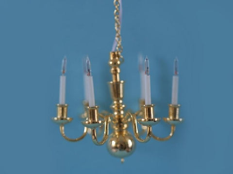 Dolls House Miniature 6 Arm Chandelier, Lighting - The Dolls House Store