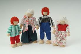 Dolls House Miniature Mother Father 2 Children, Dolls and Resin Figures - The Dolls House Store