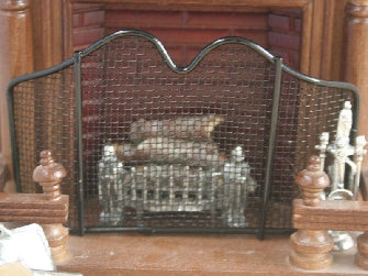 Dolls House Miniature Black Fire screen, Fireside - The Dolls House Store