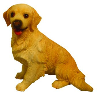Dolls House Miniature Sitting Golden Retriever, Pets and Animals - The Dolls House Store