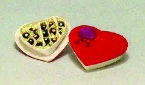 Dolls House Miniature Heart Shaped Chocs, Food and Drink - The Dolls House Store