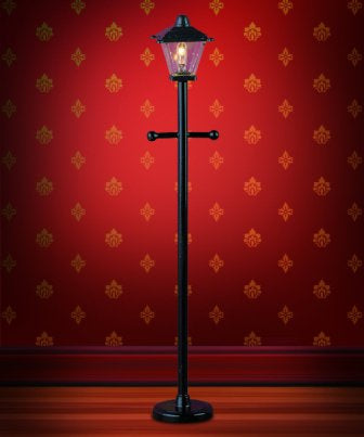 Dolls House Miniature Black Plastic Post Lamp, Lighting - The Dolls House Store