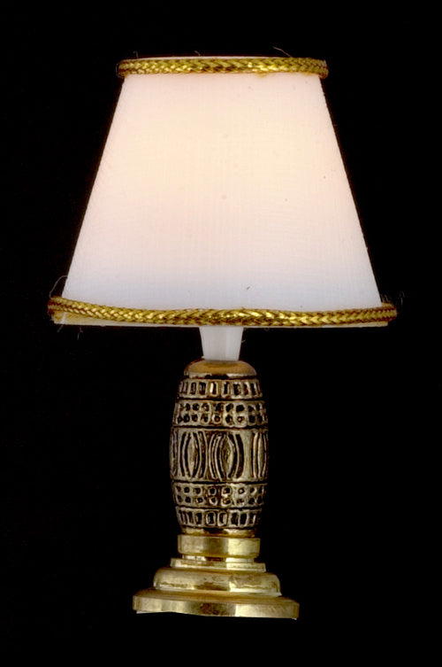 Dolls House Miniature Gold Base Lamp 12V, Lighting - The Dolls House Store