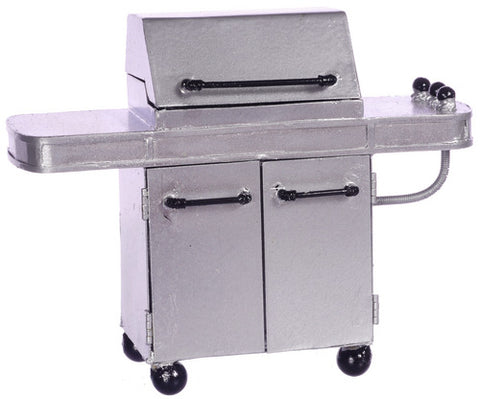 Dolls House Miniature Bar bq Grill Silver, Garden - The Dolls House Store