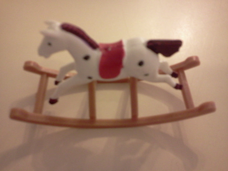 Dolls House Miniature Plasic Rocking Horse, Nursery - The Dolls House Store