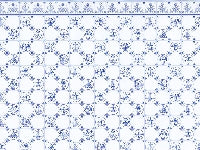 Dolls House Miniature Blue White Tiles, Wallpaper - The Dolls House Store