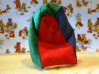 Dolls House Miniature Multi-coloured Beanbag, Bedroom - The Dolls House Store