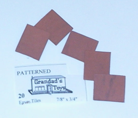 "Dolls House Miniature Patterned Eaves Terracotta Tiles 7/8"" x 3/4"" 20PK, Bricks & Tiles - The Dolls House Store"