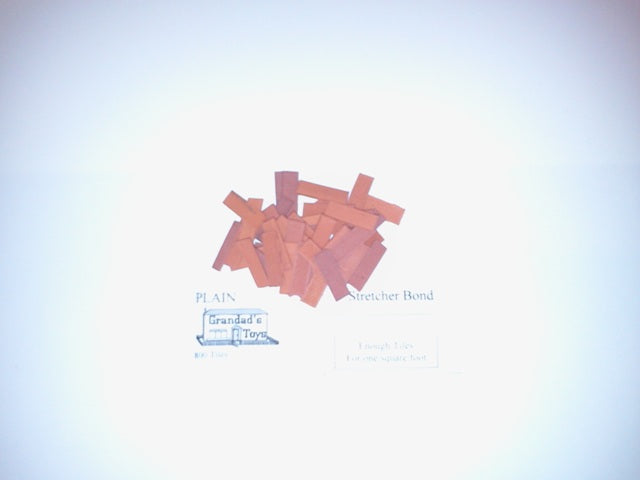 Dolls House Miniature Plain Stretcher Bond Terracotta 800PK, Bricks & Tiles - The Dolls House Store