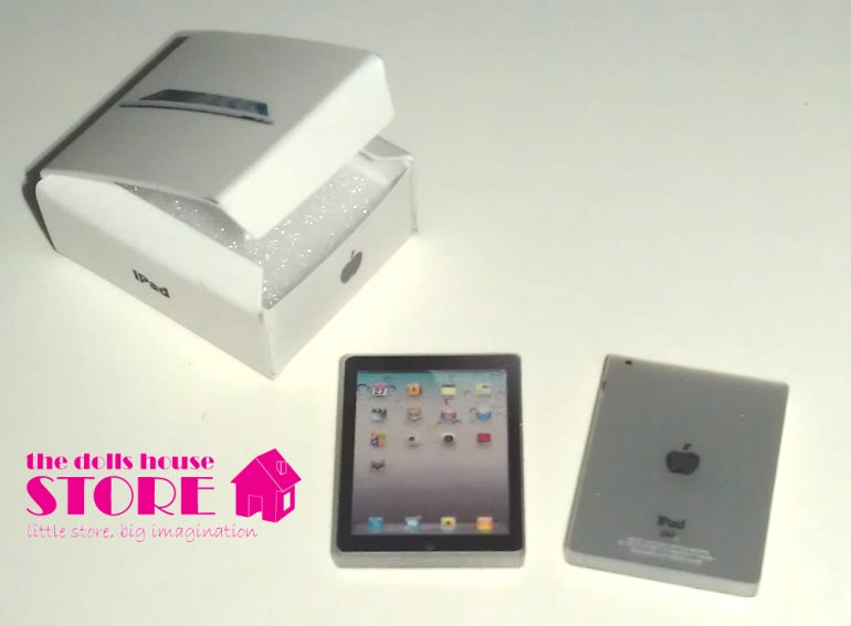 Dolls House Miniature iPad Mobile Tablet Black, * Exclusive Products * - The Dolls House Store