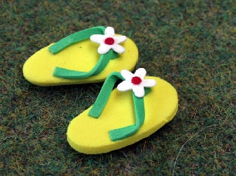 Dolls House Miniature Flip Flops, Accessories - The Dolls House Store
