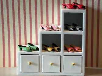 Dolls House Miniature Ladies Shoes (Sold Separately Asst Colours), Clothing and Accessories - The Dolls House Store