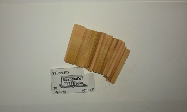 "Dolls House Miniature Stippled Edge Tiles Off White 1 1/2"" x 3/8"" 20PK, Bricks & Tiles - The Dolls House Store"