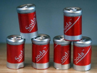 Dolls House Miniature Cola Set Of 6, Food and Drink - The Dolls House Store