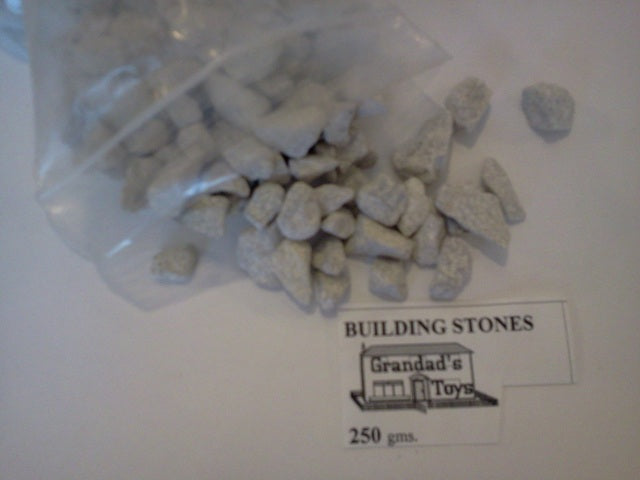 Dolls House Miniature Building Stones Sliver/White 250gms, Bricks & Tiles - The Dolls House Store