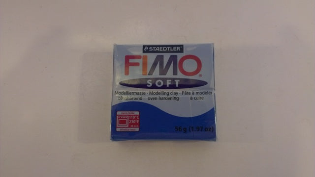Dolls House Miniature Pacific Blue 37 Fimo Soft 56g Blocks, DIY - The Dolls House Store