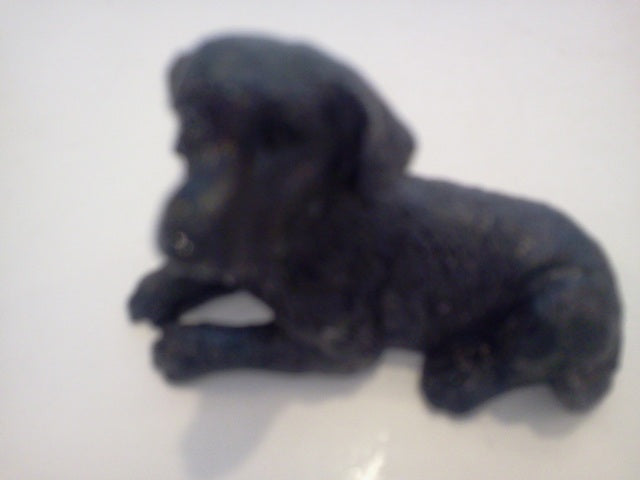 Dolls House Miniature Single Black Laying Dog, Pets and Animals - The Dolls House Store