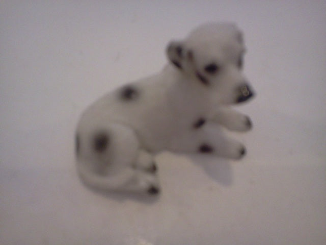 Dolls House Miniature Single Black & White Spotted Dog, Pets and Animals - The Dolls House Store