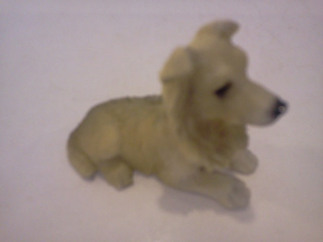 Dolls House Miniature Single White & Cream Dog, Pets and Animals - The Dolls House Store