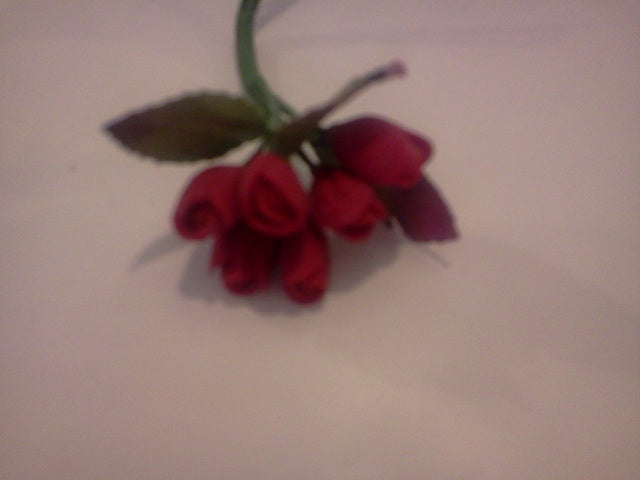 Dolls House Miniature Red Flowers, Flowers - The Dolls House Store