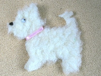 Dolls House Miniature Westie Rug, Flooring - The Dolls House Store