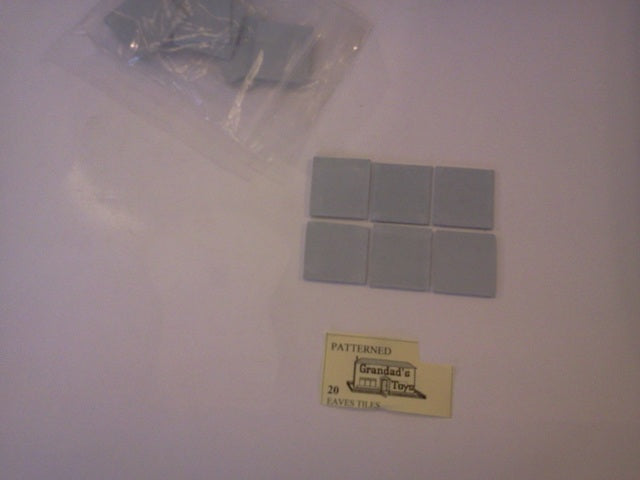 Dolls House Miniature Patterned Grey Eaves Tiles 20pk, DIY - The Dolls House Store