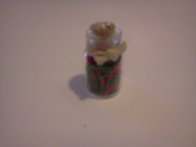 Dolls House Miniature Green and Red Pickle Jar, Kitchen - The Dolls House Store
