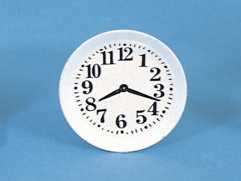 Dolls House Miniature White Plate Clock, Clocks - The Dolls House Store