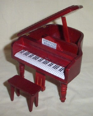 Dolls House Miniature Grand Piano & Stool, Music Room - The Dolls House Store