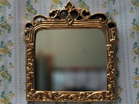Dolls House Miniature Over mantle Mirror, Accessories - The Dolls House Store