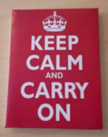 Dolls House Miniature Canvas Keep Calm And Carry On, Paintings - The Dolls House Store