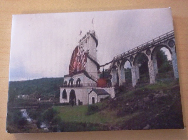 Dolls House Miniature Canvas Of The Laxdy Wheel, Paintings - The Dolls House Store