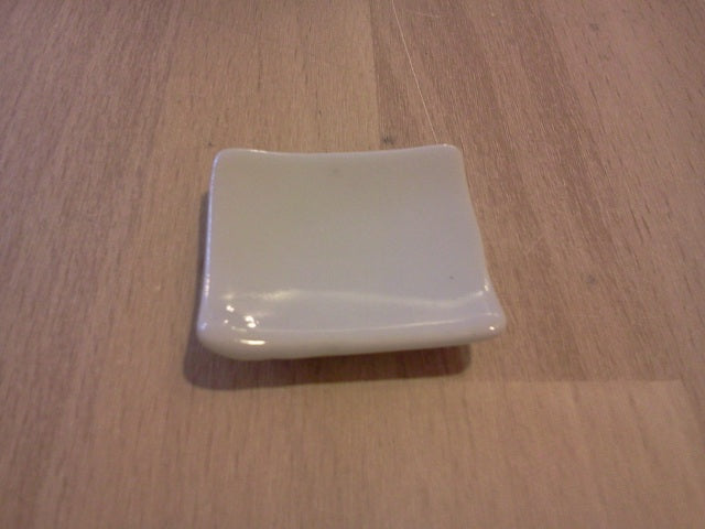 Dolls House Miniature White Square Ceramic Plate, Kitchen - The Dolls House Store